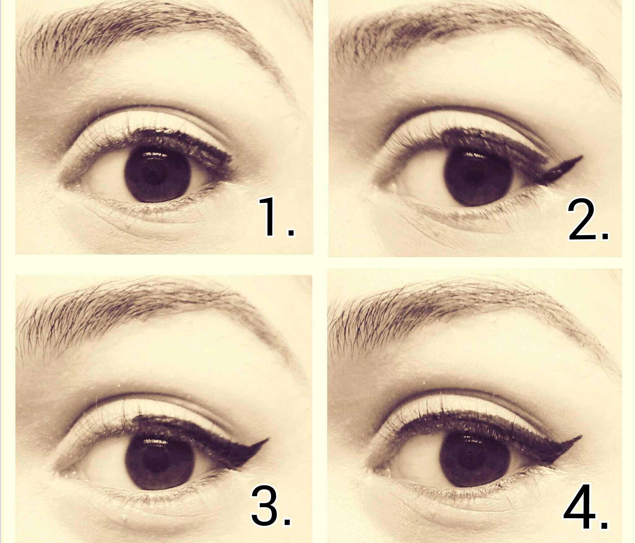 How To Draw A Cat Eye Makeup Step By